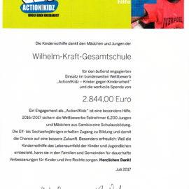 Erneuter Einsatz gegen Kinderarbeit – Wilhelm-Kraft Gesamtschule gewinnt bei Kindernothilfe-Kampagne