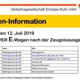 VER Einsatzwagenverkehr Freitag, 12. Juli 2019
