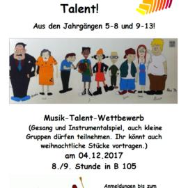 Wilhelm Kraft sucht dein Talent 2017