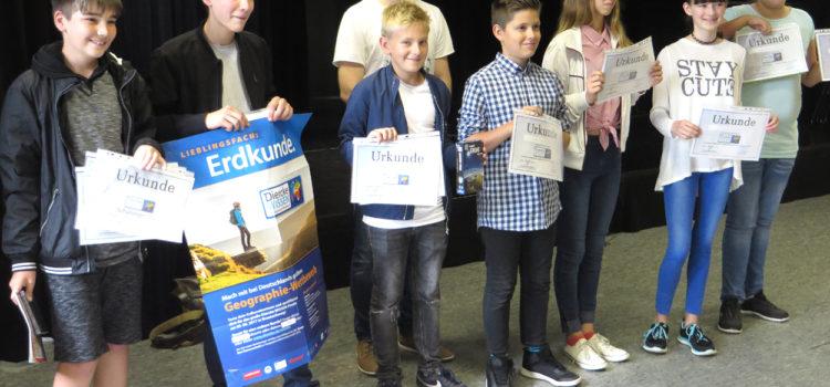 82 Schüler/innen der Klassen 5-10 nahmen am Erdkundewettbewerb teil