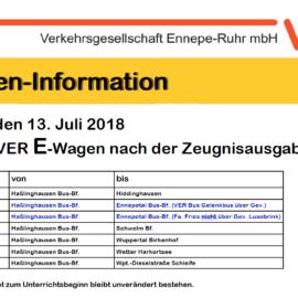 Busse nach der Zeugnisausgabe am 13.07.2018