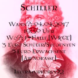 50 Shades of Schiller, 4.4.17, 19:30 Uhr